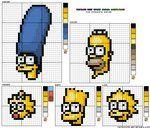 Simpsons Cross Stitch Template by ~rainbowrei on deviantART