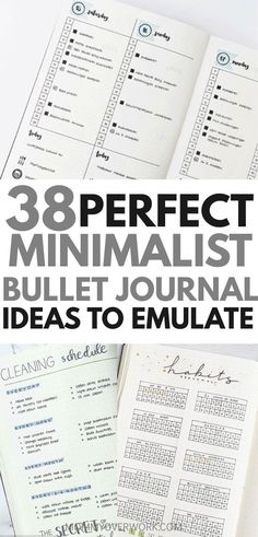 Want a minimalist bullet journal layout for inspiration? If your goal is to do more with less, then check out these stunning ideas. You'll find all kinds of collection pages include key, index, budget & finances, workout, monthly cover, habit tracker, yearly calendar, future log, daily log, weekly spreads, books to read, and more to setup your minimalist bujo. Simple header and banner ideas, monochromatic highlighting and other tips. #bulletjournal #bujo