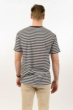 Staple Stripe Tee - Black/White - BAAM Labs - 3