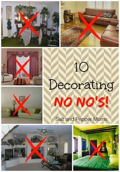 10 Interior Decorating No No's