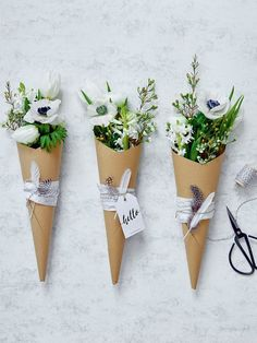 Idee für Tischdeko mit Blumen - und noch mehr Deko-Ideen mit Blumen haben wir hier auf Jolie.de