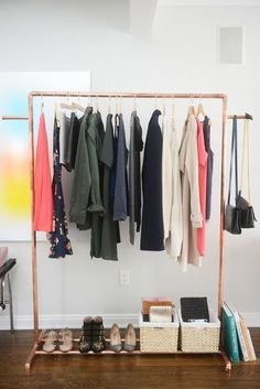 Copper Clothing Rack DIY | Cupcakes & Cashmere