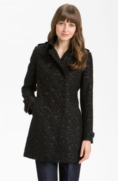 Brocade Double Breasted Coat