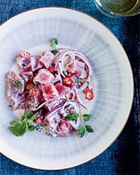 Paul Qui's Filipino-Style Ceviche with Coconut Milk Recipe on Food & Wine