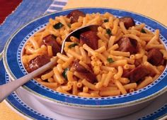 Mac & Cheese - substitute your normal hot dogs for Johnsonville Brats!