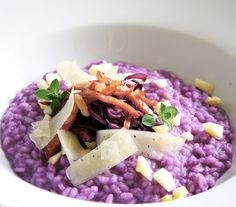 #Risotto Viola - Violet Risotto! The beautiful color of this delicious risotto comes from...