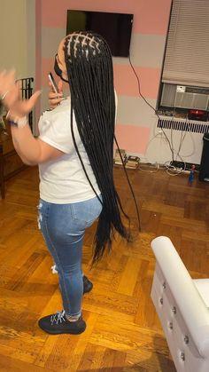 Braided Hairstyles For Black Women Cornrows, Box Braids Hairstyles For Black Women, Braids Hairstyles Pictures, Twist Braid Hairstyles, African Braids Hairstyles, Braids For Black Hair, Hair Ponytail Styles, Hot Hair Styles, Long Braids