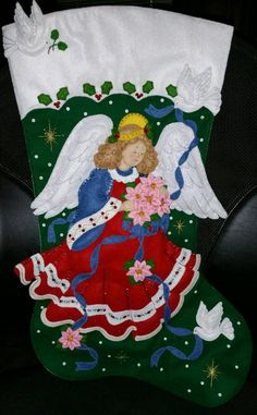 Your place to buy and sell all things handmade Diy Stockings, Christmas Stockings, Christmas Nativity, Christmas Ornaments, Southern Christmas, Felt Stocking, Holiday Crafts, Holiday Decor, Project Yourself