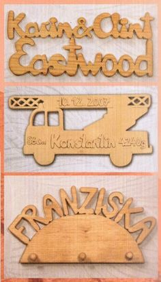 Johanna Schierjott saws nameplates and other details from wood.