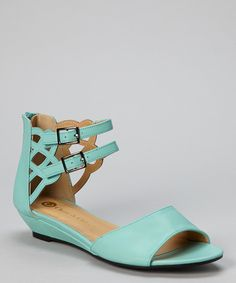 Blue Madden Double Strap Sandal » Great color.