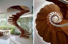 gorgeous curling spiral staircase - reminiscent of vertebrae