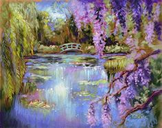 painting gardens in a landscape artists   ... Water Gardens - by Patricia Lee Christensen from Landscape - Cityscape