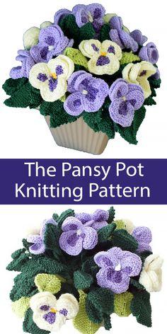 Flower Knitting Patterns - In the Loop Knitting Free Knitted Flower Patterns, Knitting Patterns Free, Free Knitting, Crochet Patterns, Loom Knitting Scarf, Baby Booties Knitting Pattern, Knitting Wool, Crochet Fruit, Crochet Flowers