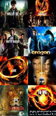 Harry Potter, Hunger Games, Percy Jackson, Eragon, Lord of the Rings, Doctor…
