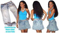 Cómo hacer una falda de jean reciclado | Manualidades