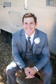 Groom in a grey suit | Kaysha Weiner Photographer | Bridal Musings Wedding Blog 21