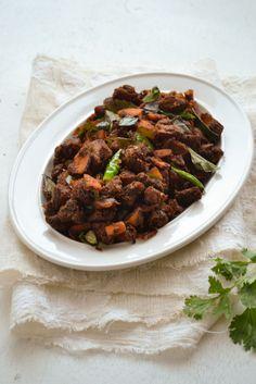 Kerala Beef Fry | Nadan Beef Fry | kurryleaves