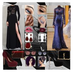"""""""Night to Die for."""" by deathbylovekat on Polyvore featuring Casadei, ALDO, Natasha, Yves Saint Laurent, Anne Sisteron, WithChic, CÉLINE and Oliver Peoples"""