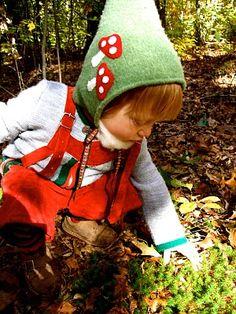 Fleece Elf hat with mushrooms.kind of cute. Fleece elf hat with mushrooms . kind of sweet . Waldorf Preschool, Family Child Care, Elf Hat, Super Hero Costumes, Cute Hats, Waldorf Dolls, Kids Prints, Kids Hats, Doll Crafts