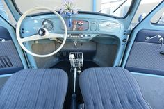 Everything about the interior of this 1956 Volkswagen Beetle is complete perfection.
