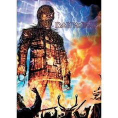 Postcard Iron Maiden Wicker Man