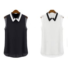 Fashion Women Summer Loose Casual Chiffon Sleeveless Vest Shirt Tops Blouse. | Roupas, calçados e acessórios, Roupas femininas, Blusas e túnicas | eBay!