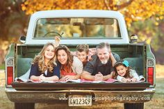 family pictures with old truck - Might have to do this with Jacobs truck in a couple months:)