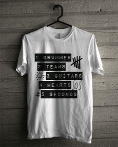 5 Seconds Of Summer Shirt Unisex Adult 5SOS T Shirt 5 SOS Shirt Music Australia