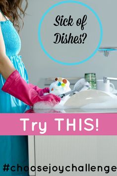 Today's #choosejoychallenge is to pray over your dishes. When you are in your kitchen today washing them, putting them away, drying them. Pray over each one