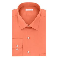 Men's Van Heusen Classic-Fit Solid Dress Shirt, Size: 18.5 36/37, Lt Orange