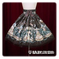 Alice and the pirates Electric Circus in the Moonlight Night skirt