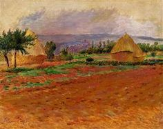 Field and Haystacks - Pierre-Auguste Renoir