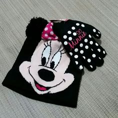 Minnie Mouse Beanie and Mittens Set BNWT Minnie Mouse Hat and Mittens Set. BNWT Juniors/Girls Adorable with Pom Pom Ears 100% Acrylic  **No trades  **No off-site transactions  **Price ABSOLUTELY FIRM unless you bundle  **NO HOLDS. FIRST COME FIRST SERVED Accessories Hats