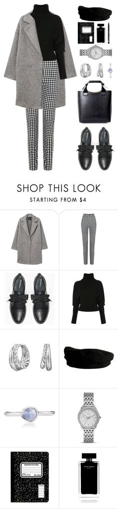 """""""Untitled #603"""" by froyalbiatsii ❤ liked on Polyvore featuring MANGO, Max&Co., Creatures of the Wind, Handle, David Yurman, Janessa Leone, Monica Vinader, FOSSIL, Narciso Rodriguez and NYX"""