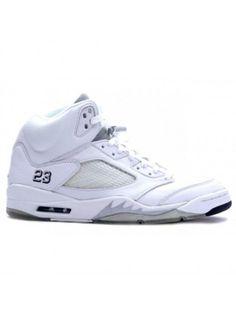 acbc44a5977 Nike Air Jordan 5 Retro all white- 25th Anniversary Shoes Nike Air Jordan 5