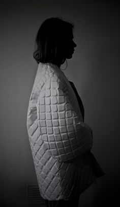 Creative textiles for fashion - coat with textured tile pattern - fabric manipulation; surface design // Julia Björkeheim