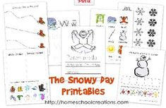 The Snowy Day Preschool Printable Pack