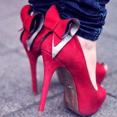 I want red high heels so bad!