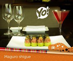 Maguro Shigue - Atum, Ovas de Masago, Farofa de Wasabi e Gergelim. Pratos assinados pelo grande Chefe Adriano Kanashiro. TokYo! Restaurante Café Londrina #soutokyo #restaurante #japones #londrina #rodizio #japanese #food #chef #adriano #kanashiro #cooking