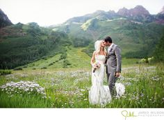 I want to get married in the mountains so badd. It was soo cool when my aunt and uncle did