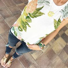 Super casual Fri-Yay #ootd in the cutest fruity tank�� This adorable summer tank is on... @liketoknow.it www.liketk.it/1s6SH #liketkit