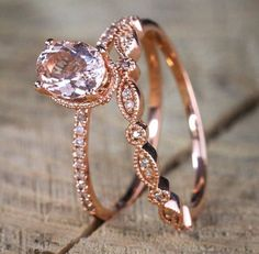 Normally $599, SAVE OVER $300. Now on SALE FOR $499 This is our bestselling Oval cut Solitaire Morganite and Diamond Halo Engagement Ring and Wedding Ring Band, which features beautiful 1 Carat Oval Cut Morganite and Diamonds, glittering and sparking, set in beautiful 10k Rose Gold. The