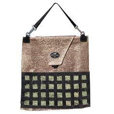 Glitter/Champagne hay bag. Yessss.