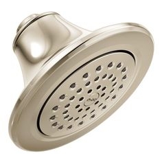 GPM Single Function Spray Eco-Performance Round Showerhead in Polished Nickel Dual Shower Heads, Fixed Shower Head, Bathroom Designs Images, Adjustable Shower Head, Possible Combinations, Steam Showers Bathroom, Shower Arm, Polished Nickel, Brushed Nickel