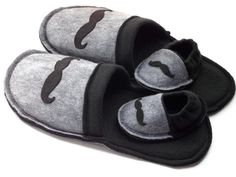 These handmade slippers make the perfect gift for new dads! You will receive 2 pairs of slippers, one for dad and one for his new little side kick! Having a boy? Mr. Mustache print is a great way to reveal the gender! Don't forget the proud grandpa! Now on EcoHabitude.com. Your one stop shop for everything eco-friendly!
