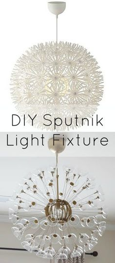DIY gold sputnik makeover ikea hack