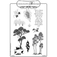 Tall Trees Unmounted Rubber Stamp Sheet