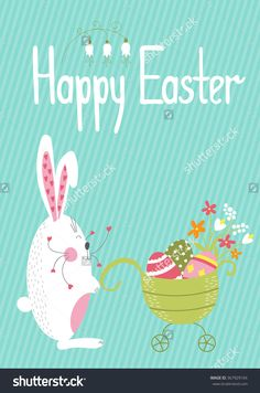 Julia Khimich Design Cute Vector Easter Card Template With Funny