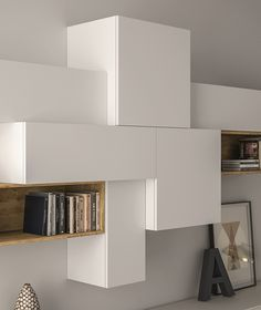 SECTIONAL LACQUERED STORAGE WALL SLIM 88 SLIM COLLECTION BY DALL'AGNESE   DESIGN IMAGO DESIGN, MASSIMO ROSA