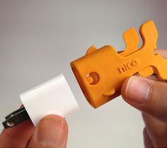 Goldie Goldfish Cord Storage - so cute! via nicebydesign.com